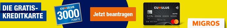 Cumulus Mastercard - 3000 Punkte